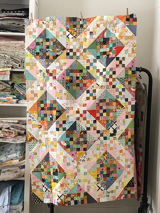 Jacob's Ladder Nine Patch Quilt Scrap Instructions