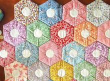 Folded Hexagon Quilt Pattern