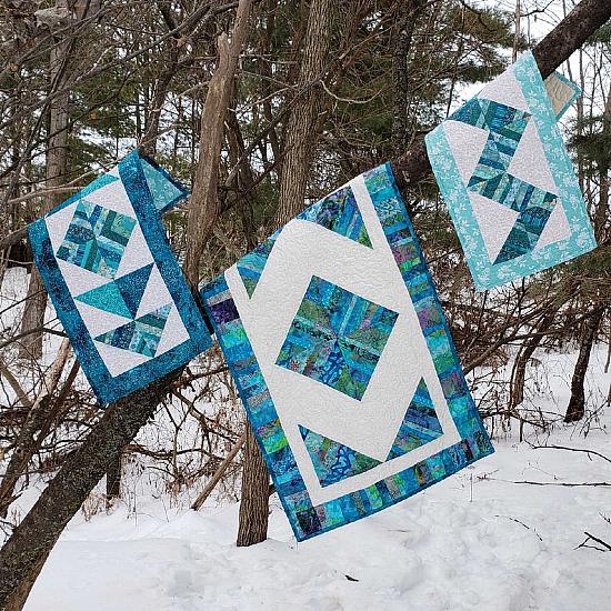 Easy Quilt String Block Table Runner Pattern