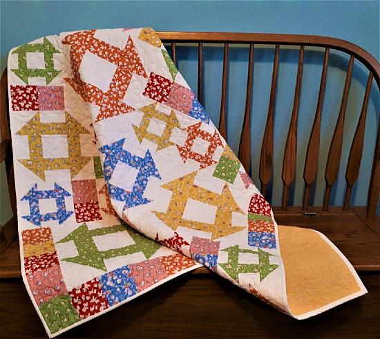 Churn Dash Shuffle Quilt Pattern