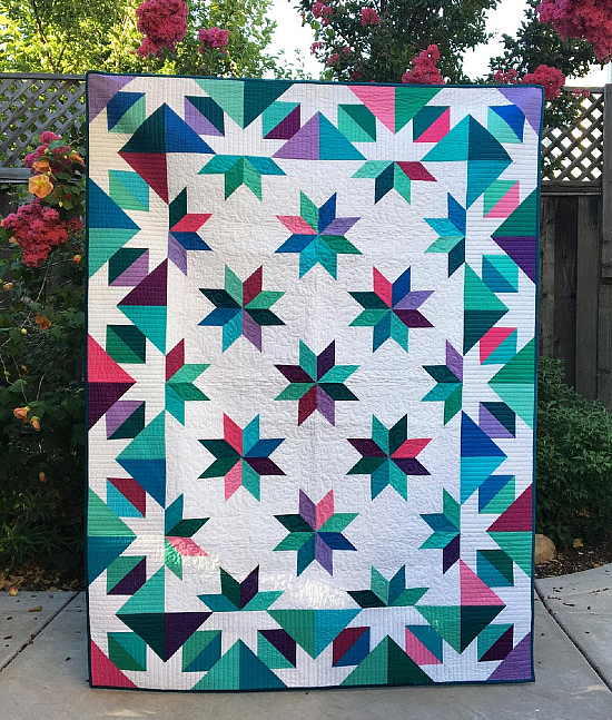 Confetti Star Quilt Pattern