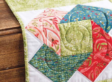 Swirls of Color Table Runner Pattern