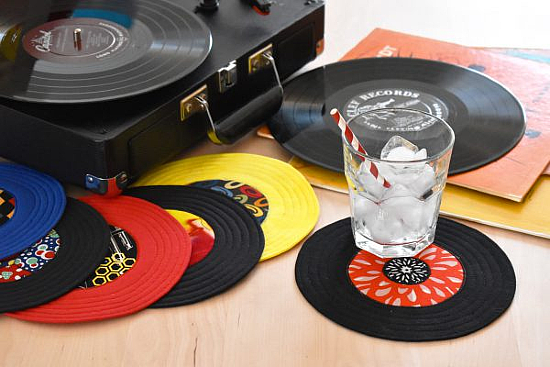 Record Coaster Sewing Tutorial
