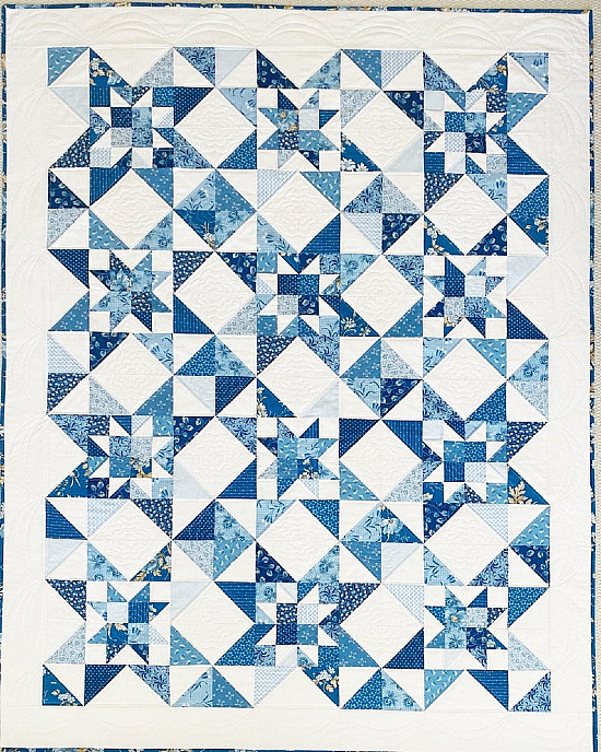 Festival of Stars Quilt Pattern & Free Pillow Pattern