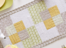 Square Scramble Table Runner and Place Mat Pattern