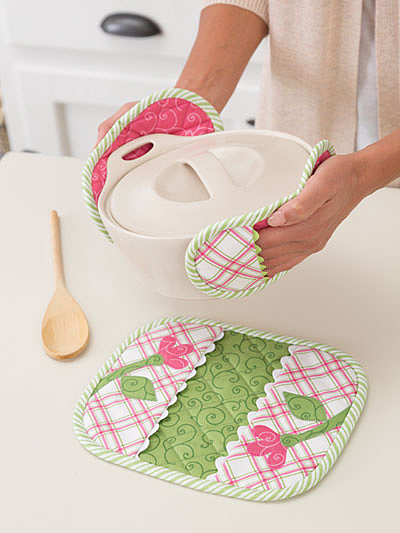 Pincher Pot Holders Sewing Pattern
