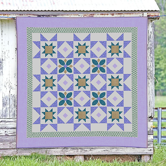 Midnight Blue Quilt Pattern