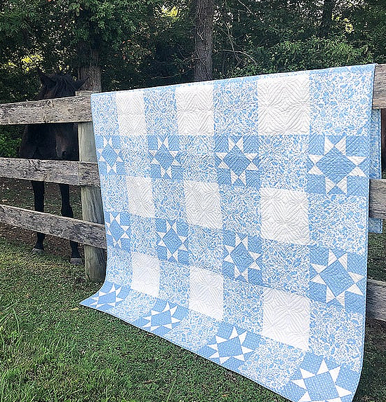 Starry Gingham Quilt Pattern