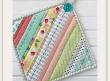 Striped Quilted Hot Pads Tutorial