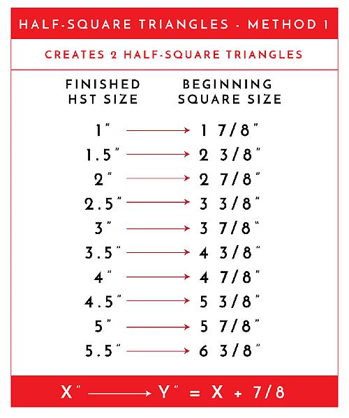 Half-Square Triangle Chart