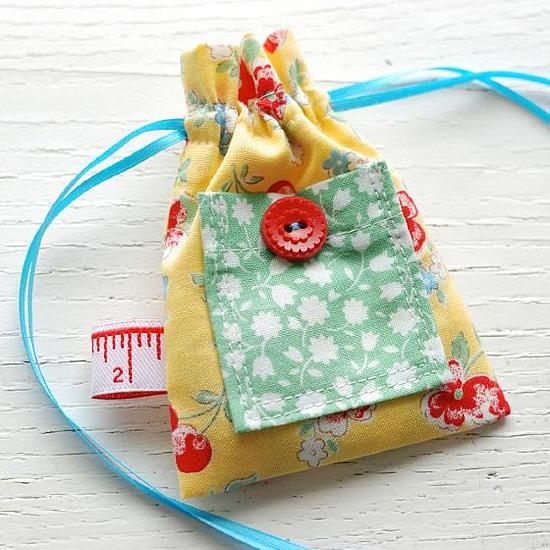 Mixed Bag Drawstring Pouch Tutorial