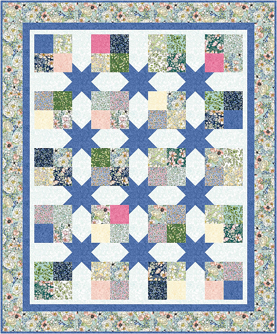 Floating Four Patches Quilt Pattern