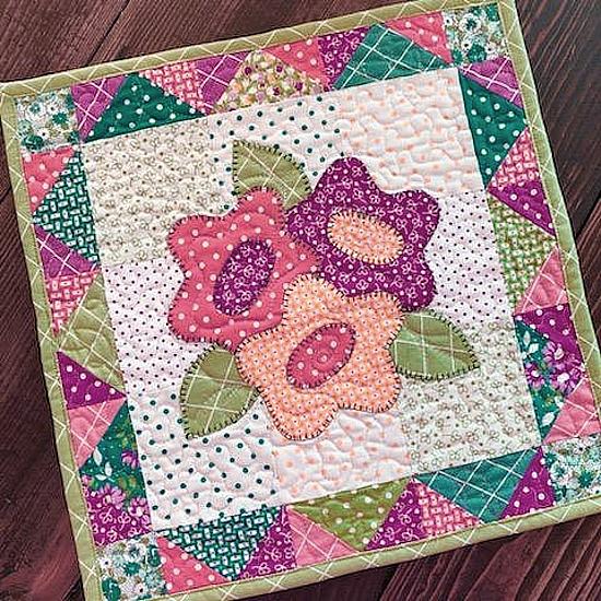 Harvest Bouquet Mini Quilt Pattern