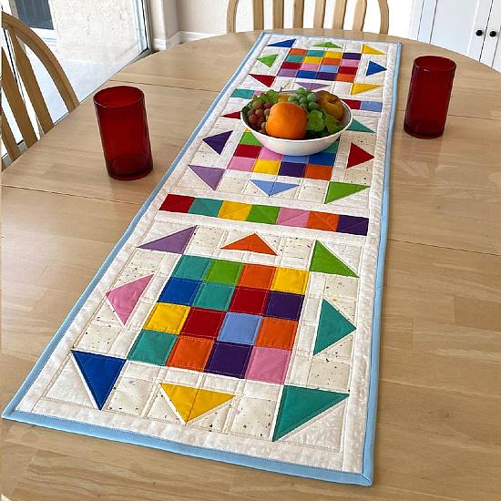 Kaleidoscope Table Runner Pattern