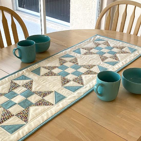 X Marks the Spot Table Runner Pattern