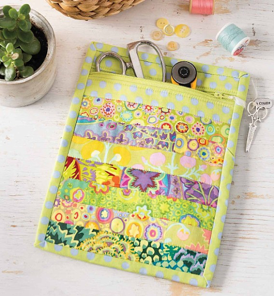 Quilted Zippered Bag Pattern