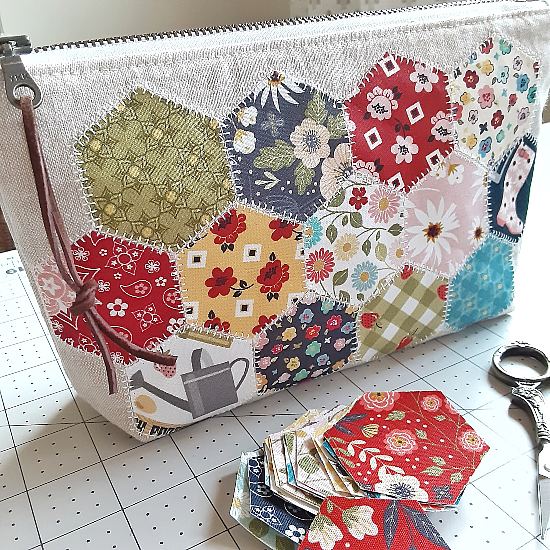 Create Pretty Hexies without Hand Sewing