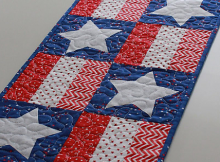 Stars and Stripes Table Runner Pattern