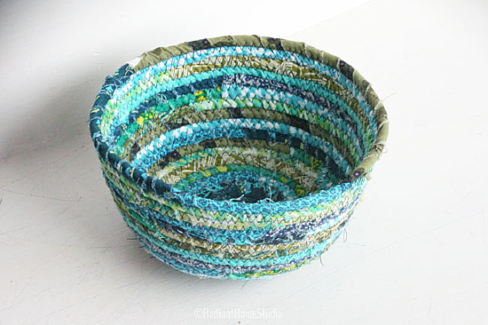 Make a Lovely Basket from Scraps