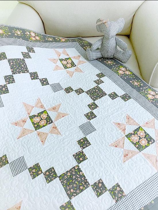 Star Gazer Delight Quilt Pattern and Bonus Mouse Pattern