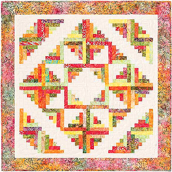 Mini Stately Star Cabin Quilt Pattern