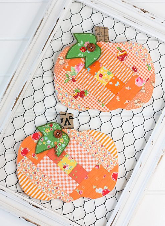 Patchwork Pumpkin Coaster Pattern