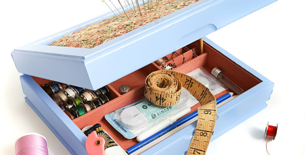 Turn a Vintage Jewelry Box Into a Sewing Kit