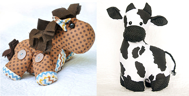 Horse and Cow Sewing Patterns