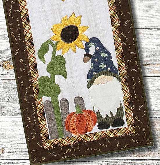 Home With a Fall Gnome Table Runner Pattern