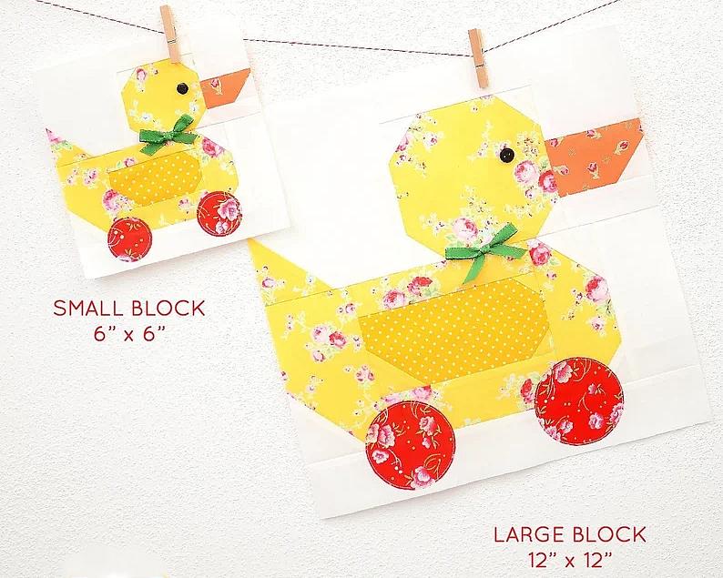 Pull Along Duck Block Pattern