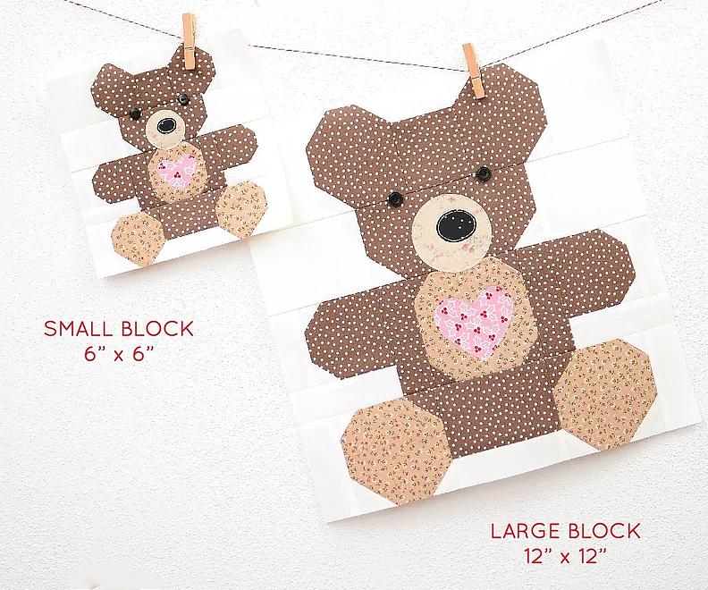 Teddybear Block Pattern