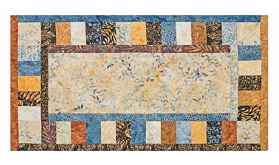 Riverbed Table Runner, Place Mats & Hot Pad Pattern