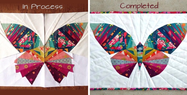 paper pieced butterfly