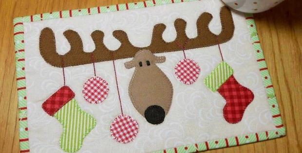Reindeer Mug Rug Pattern