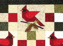 Winter's Song Cardinal Quilt Pattern