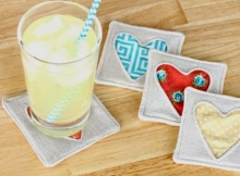 Simple Fabric Heart Coasters