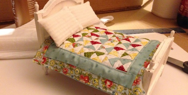 Tiny Bed and Quilt