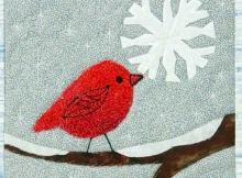 Tweety's Snowflake Mini Quilt