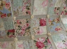 Fabric and Crochet Quilt