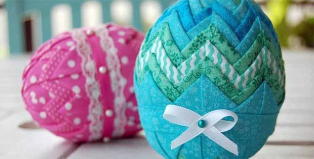 Folded Fabric Easter Eggs