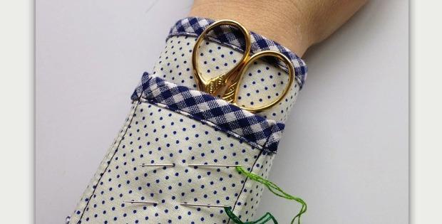 Pincushion and Scissors Wrist Cuff