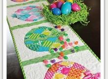 Patchwork Easter Table Runner