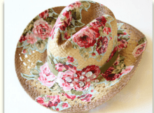Fabric Cowgirl Hat