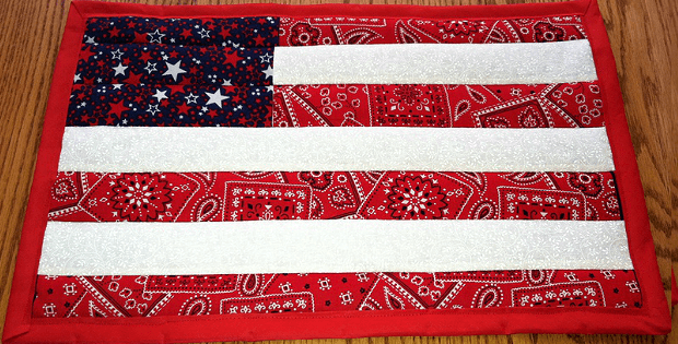 Quilt-As-You-Go Flag from Bandanas