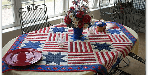 Easy Patriotic Table Quilt