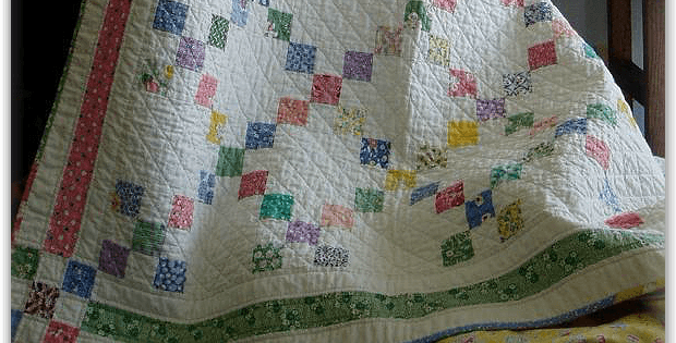 Patch Crib Quilt and Tablecloths