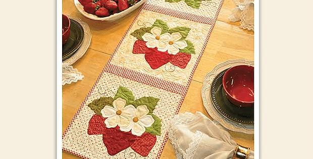 Strawberries Table Runner