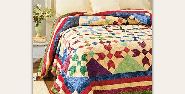 Basket of 1895s Quilt Pattern