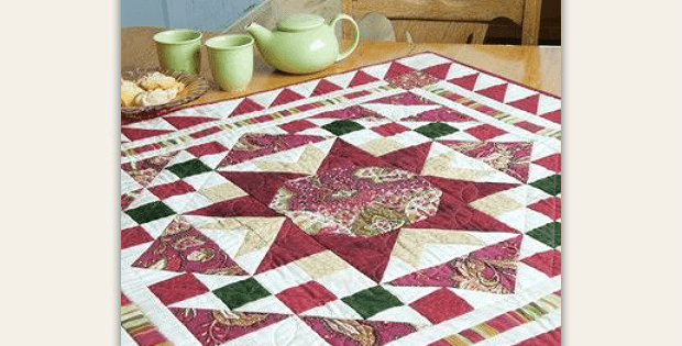 Red Robin Topper or Wall Quilt