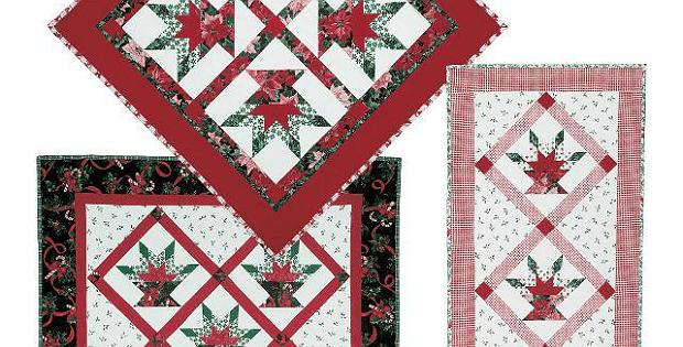 Poinsettia Basket Quilts